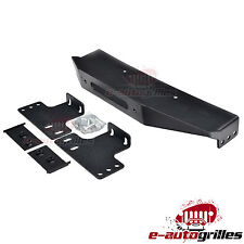 Jeep Wrangler JK Raised Winch Mounting Steel Plate for Stock OE Factory Bumper