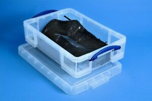 PACK OF 10 Really Useful 24.5 Litre Boxes Ladies Boot Storage Under Bed Storage