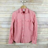 J.CREW Women's Cotton Voile Camp Shirt In Perfect Fit Top S Small Pink