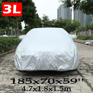 WaterProof Full Cover Indoor Outdoor Dust UV Ray Rain Snow Fit For Small Car US