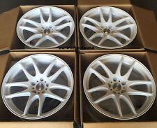 "17"" ESR SR08 White Wheels For Scion TC Xb 5x114.3 17X8.5 +30 (Rims Set 4)"