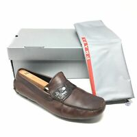 Men's Prada Moccasins Loafers Shoes Size 10 UK/11 US Brown Genuine Crocodile T13