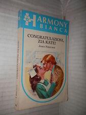 CONGRATULAZIONI ZIA KATE Janet Ferguson Harlequin Mondadori 1987 romanzo libro