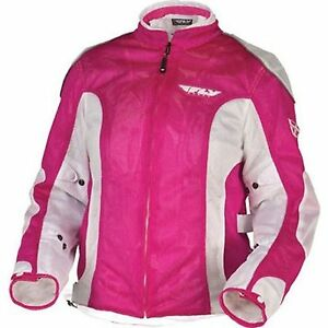 NOS FLY RACING 477-8028XS COOLPRO II MESH JACKET PINK WHITE SIZE WOMENS XS