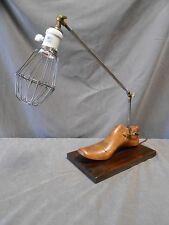 Repurposed Industrial Machine Steampunk Shoe Stretcher Articulated Desk Lamp
