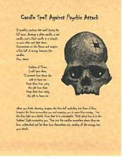 Book of Shadows Spell Pages ** Prevent Psychic attacks Candle Spell ** Wicca Wit