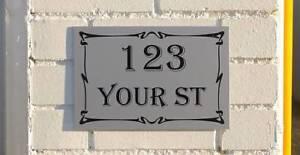 Custom House Address Sign or House Number 30 x 20cm