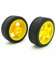 1PCS Small Smart Car Model Robot Plastic Tire Wheel 65x26mm for arduino