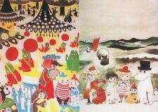 Moomin Muumi Finland Official Vintage Mint Postcards (2) Very Nice