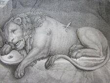 1821SWISS LUCERNE LION HELVETIORUM FIDEI AC VIRTUTI after JACOB SCHWEGLER *RARE