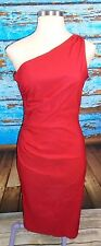 STOP STARING! Red One Shoulder Wiggle Pencil Dress 1X 14 16 Rockabilly PinUp