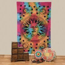 Wall Hanging Bedspread Sun Moon Stars Cloth India Mandala Approx.