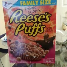 Limited Edition Travis Scott X Reeses Puffs Cereal Family Size Multiple Boxes