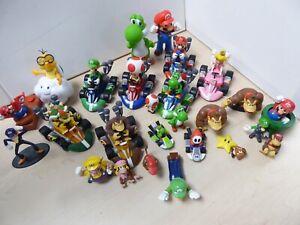 Job Lot of Super Mario Characters Go Karts Pull Back Cars Toys Figures Yoshi C31