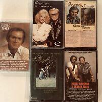 George Jones, Tammy Wynette, Merle Haggard 1980s Country LOT 5 Audio Cassette