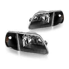 New Listingfor 1997 2003 Ford F150 Black Front Headlight Assembly Corner Lamp Leftright Fits 1997 Ford F 150