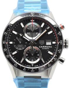 Unworn 2021 TAG Heuer Carrera Chronograph CBM2110.BA0651, B&P, TAG Warranty