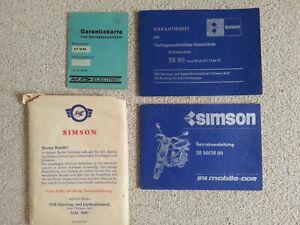 Simson SR 50/SR80 Betriebsanleitung