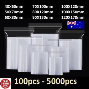 5-5000pcs Small Zip Lock Plastic Bag Reclosable Resealable Zipper AU SYD