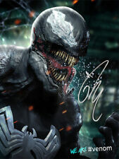 Tom Hardy SIGNED PHOTO Venom Movie FANART Poster PROMO SILVER AUTO