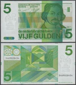 Netherlands, 5 Gulden, 1973, AU, P-95