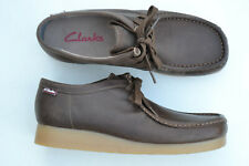 Clarks Mens Wallabee Style Shoes STINSON LO Beeswax Leather UK 8.5 / 42.5