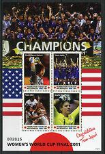 Micronesia 2011 MNH Womens World Cup Football Final 4v M/S I Soccer Japan USA