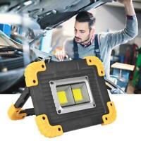 20W USB COB LED Akku Fluter Strahler Handlampe Arbeitsleuchte Baustrahler DE