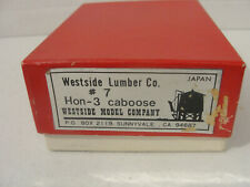 "WESTSIDE MODEL  *RARE BRASS ""WEST SIDE LUMBER CO. CABOOSE #7 HOn3,"