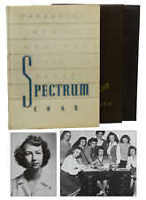 FLANNERY O'CONNOR ~ 3 College Yearbooks The Spectrum 1943 1945 ~ Cartoons GSCW