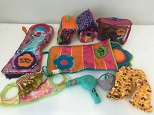 Groovy Girls Manhattan Toy Lot Accessories  Two Sleeping Bags Clothes Carriers