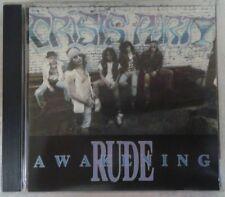 CRISIS PARTY rude awakening CD 1989  NO WONDER / METAL BLADE RECORDS