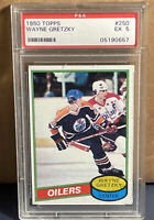 1980 TOPPS WAYNE GRETZKY #250 PSA 5 EX  Hockey NHL Oilers 2nd Year Card
