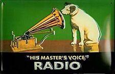 HMV His Masters Voice Radio embossed steel sign 300mm x 200mm (hi)