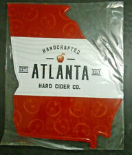 "NEW HANDCRAFTED ATLANTA HARD CIDER CO. TIN METAL BAR PUB SIGN 18"" X 13.75"""