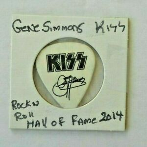 Gene Simmons Kiss  Rock N Roll Hall Of Fame Induction  Guitar Pick  rare