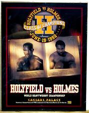 '92 Evander Holyfield Larry Holmes Vintage Caesars Las Vegas Boxing Fight Poster
