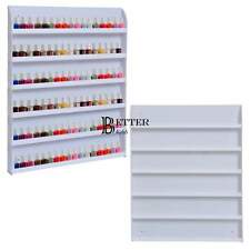 6 Tier 102 Bottles Clear Acrylic Nail Polish Wall Display Storage Rack Organizer