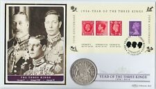 More details for 1937 year of the three kings 80th anniversary silver crown stamp cover set