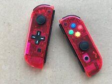 Nintendo Switch Custom Joy Con Controller Joy-Cons Clear Watermelon Red D-PAD