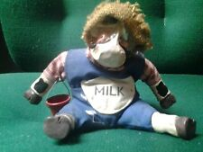 Russ Milk Cow with Bucket Stuffed Figurine Shelf Sitter Kathleen Kelly