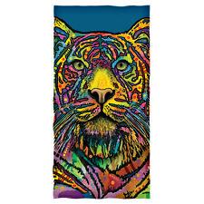 Dean Russo Rainbow Tiger Cotton Beach Towel
