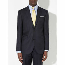 John Lewis Classic Pinstripe Tailored Blazer / Jacket Navy Blue Size 44L   £140