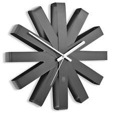 Umbra Ribbon Wall Clock Black 30cm in Diam