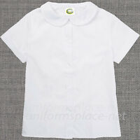 Girls Shirt Peter Pan Collar Blouse Short Sleeve, Long Sleeve School Uniforms