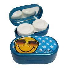 Smiley Emoji Sunglasses Stars Mirror Case Contact Lens Soaking Storage Case