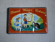 FINEST WATER COLOURS PAINT SET NIB LITHO TIN BOX ENGLAND LL PRODUCTS Vintage