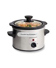 Stainless Steel Slow Cooker Crock Pot Mini Kitchen Appliance, 1.5QT, mini cooker