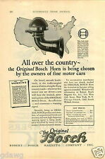 1925 PAPER AD Robert Bosch Car Auto Automobile Motorcycle Horn Master Standard