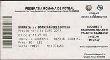 Ticket ROMANIA vs BOSNIA&HERZEGOVINA - 03/06/2011
